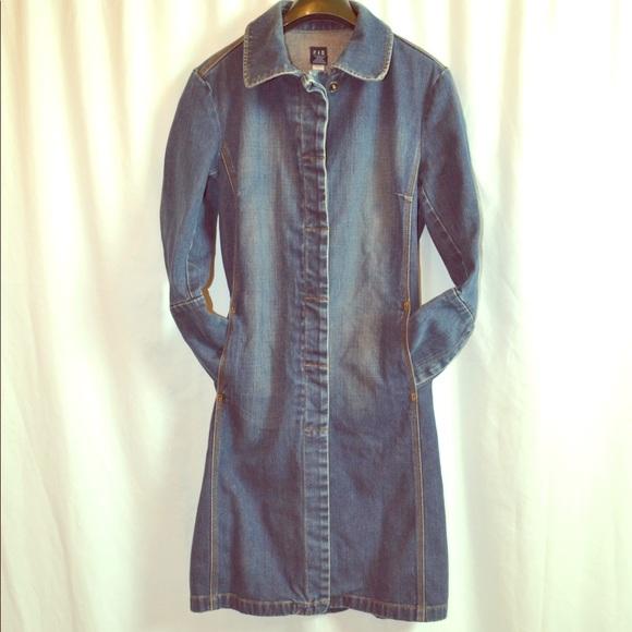 GAP Jackets & Blazers - RARE GAP VINTAGE Denim Jacket/ Duster/ Trench Coat